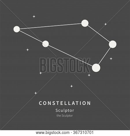 The Constellation Of Sculptor. The Sculptor - Linear Icon. Vector Illustration Of The Concept Of Ast