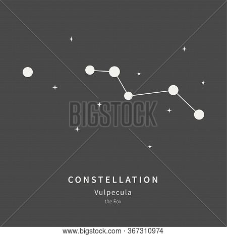 The Constellation Of Vulpecula. The Fox - Linear Icon. Vector Illustration Of The Concept Of Astrono