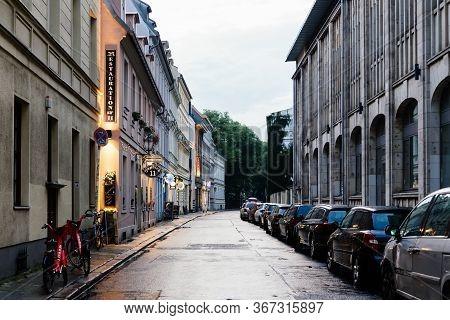 Berlin, Germany - July 29, 2019: Street View In Scheunenviertel, In Berlin Mitte. It Is One Of Oldes