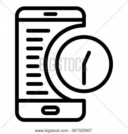 Smartphone Estimator Icon. Outline Smartphone Estimator Vector Icon For Web Design Isolated On White