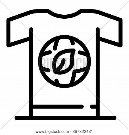 Ecologist Tshirt Icon. Outline Ecologist Tshirt Vector Icon For Web Design Isolated On White Backgro