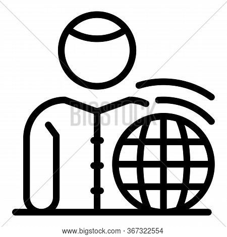 Warming Planet Icon. Outline Warming Planet Vector Icon For Web Design Isolated On White Background