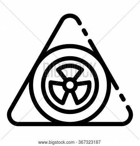 Nuclear Triangle Icon. Outline Nuclear Triangle Vector Icon For Web Design Isolated On White Backgro
