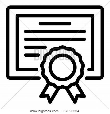 Foreign Language Diploma Icon. Outline Foreign Language Diploma Vector Icon For Web Design Isolated