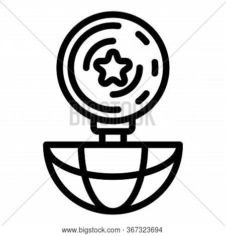 Global Investigator Icon. Outline Global Investigator Vector Icon For Web Design Isolated On White B