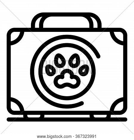 Dog First Aid Kit Icon. Outline Dog First Aid Kit Vector Icon For Web Design Isolated On White Backg