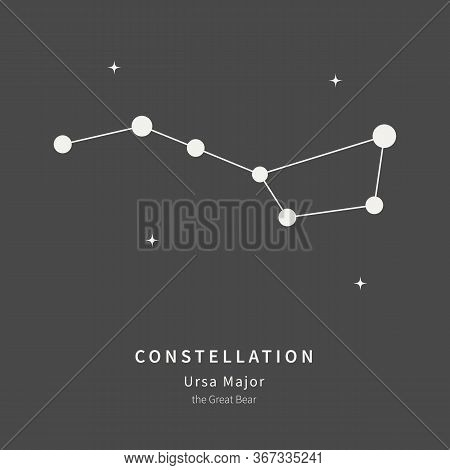 The Constellation Of Ursa Major. The Great Bear - Linear Icon. Vector Illustration Of The Concept Of
