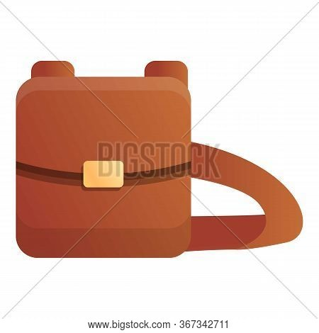 Hunter Leather Bag Icon. Cartoon Of Hunter Leather Bag Vector Icon For Web Design Isolated On White