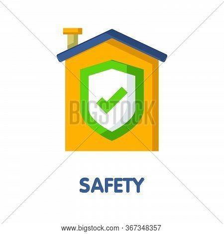 Home Safety Flat Icon Style Design Illustration On White Background