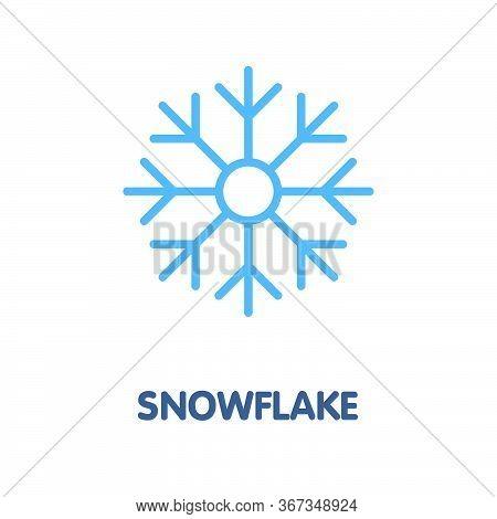 Snowflake Flat Icon Design Style Illustration On White Background