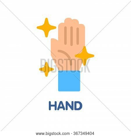 Clean Hand Flat Icon Style Design Illustration On White Background