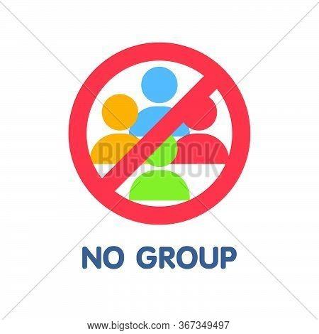 No Group Flat Icon Style Design Illustration On White Background