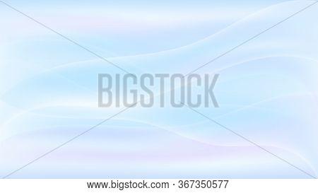 Purple Pastel Vector Background Curve Design. Gradient Soft Background In Pastel Colors. Liquid Dyna