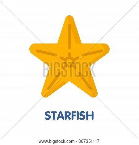 Vector Starfish Flat Icon Style