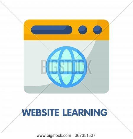 Website Learning  Flat Style Icon Design  Illustration On White Background