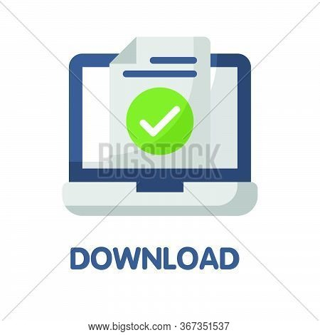 Download File  Flat Style Icon Design  Illustration On White Background