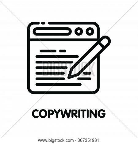 Icon Copywriting Outline Style Icon Design  Illustration On White Background