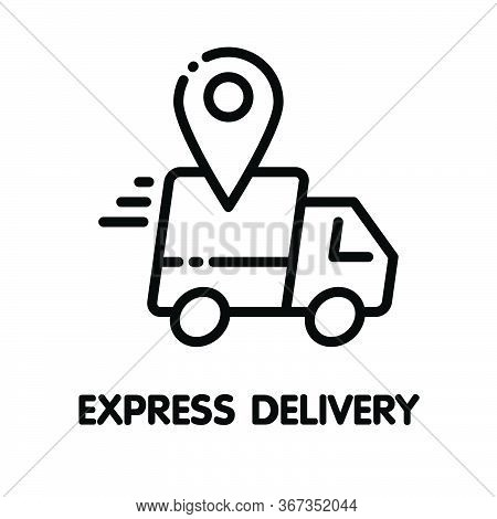 Icon Express Delivery Outline Style Icon Design  Illustration On White Background