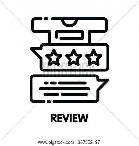 Icon Review Online Outline Style Icon Design  Illustration On White Background