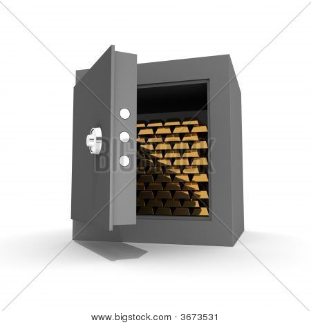 Ingots Of Gold In The Safe
