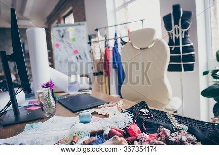 Light White Room Flat Apartment Needlewomen Doing Making Order Production Personal Branding Glamour