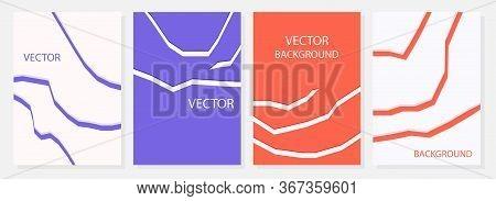 Modern Advertising Rectangular Web Banner. A Set Of Modern Rectangular Backgrounds With Abstract Lin