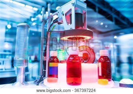 Robotic vision sensor camera system in intellegence medicine factory