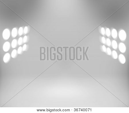 Spotlight White Room Background