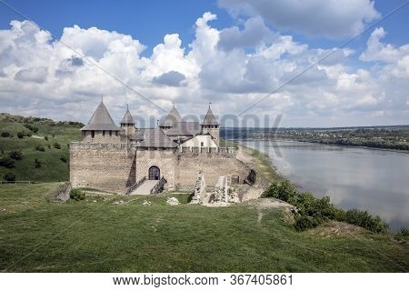 Fortification Complex The Khotyn Fortress Located On The Right Bank Of The Dniester River In Khotyn,