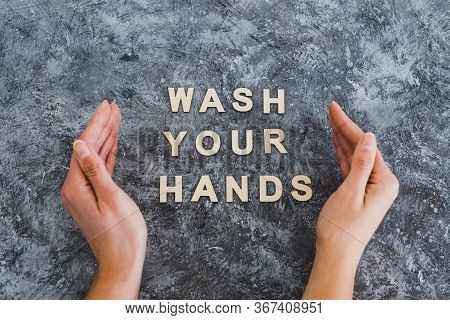 Keep Clean To Fight Bacteria And Viruses, Hand Surrounding Text Wash Your Hands
