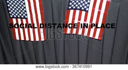 Social Distance Curtains For Voters To Enter.