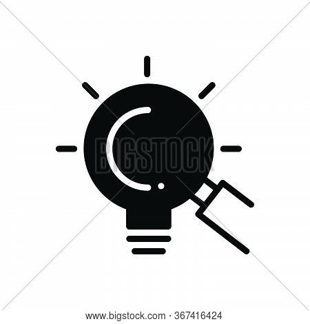 Black Solid Icon For Looking-for-opportunities Looking For Opportunities Magnifying-glass Investment