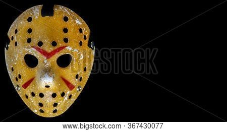 Bangkok, Thailand, 26 Jan 2020: Bloody Hockey Mask Worn By Slasher Jason Voorhees From The Friday Th