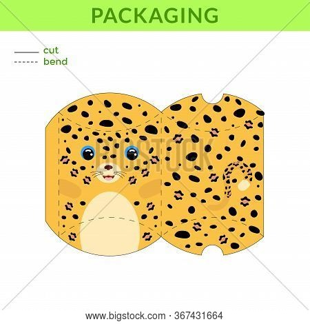 Adorable Diy Party Favor Box For Birthdays, Baby Showers With Cute Jaguar For Sweets, Candies, Small