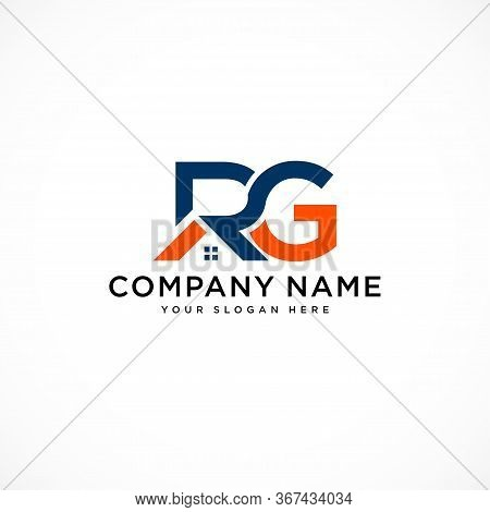 Letter Rg With Real Estate Element. Home Initial R G Concept. Construction Logo Template Home And Re