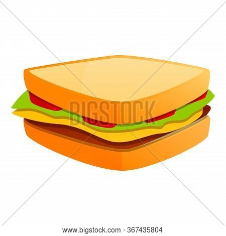 Sandwich Bar Icon. Cartoon Of Sandwich Bar Vector Icon For Web Design Isolated On White Background