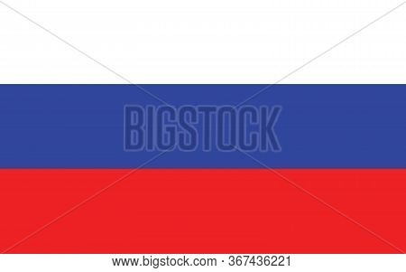 Russia Flag Vector Graphic. Rectangle Russian Flag Illustration. Russia Country Flag Is A Symbol Of