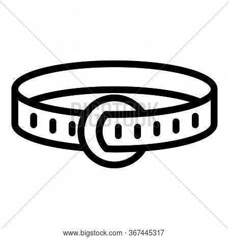 Dog Leather Belt Icon. Outline Dog Leather Belt Vector Icon For Web Design Isolated On White Backgro