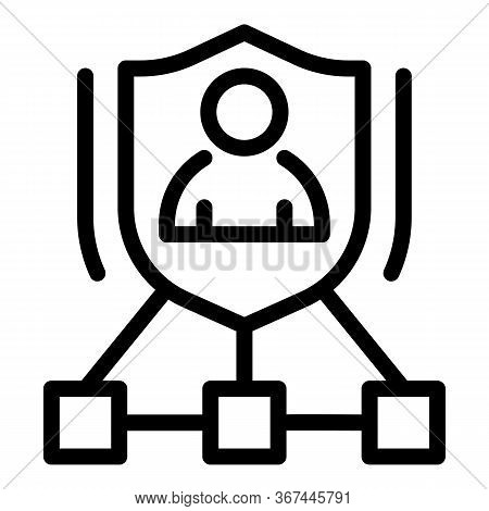 Personal Guard Scheme Icon. Outline Personal Guard Scheme Vector Icon For Web Design Isolated On Whi