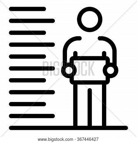 Prison Criminal Photo Measurement Icon. Outline Prison Criminal Photo Measurement Vector Icon For We