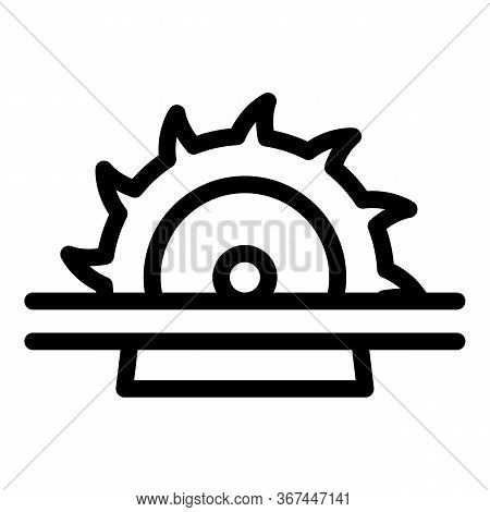 Meat Circular Saw Icon. Outline Meat Circular Saw Vector Icon For Web Design Isolated On White Backg