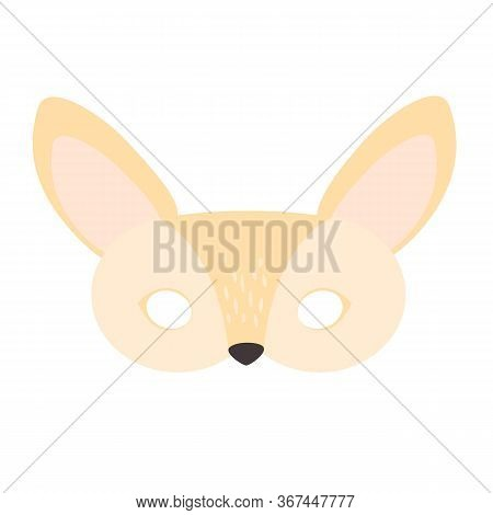 Illustration Of Carnival Mask Animals Africa Fenech. Eye Mask For Masquerade, Children's Party. For