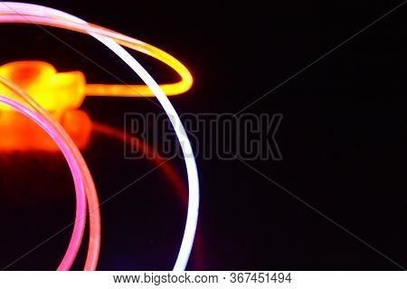 Orange And Blue Light Wire, A Light Guide Wire With Different Light Transmission, Light Spectrum, An