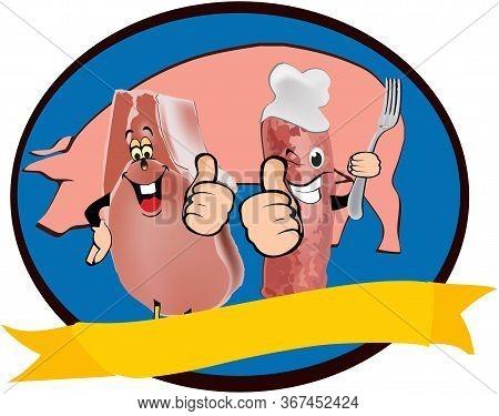 Pork Sticker Chop And Salami That Raise Your Thumb