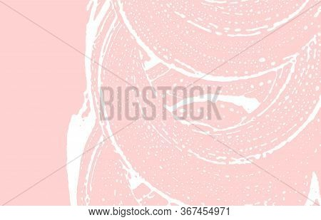 Grunge Texture. Distress Pink Rough Trace. Fresh Background. Noise Dirty Grunge Texture. Bewitching