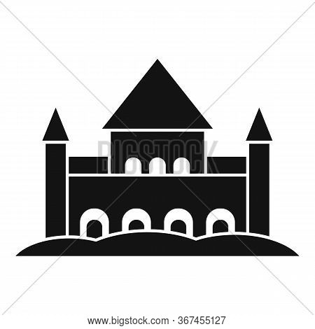 Sand Castle Fort Icon. Simple Illustration Of Sand Castle Fort Vector Icon For Web Design Isolated O