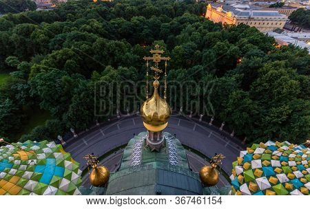 Sunrise View From The Top Of The Church Of The Savior On Spilled Blood, In Saint-petersburg, Russia.