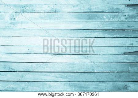 Old Grunge Wood Plank Texture Background. Vintage Blue Wooden Bo
