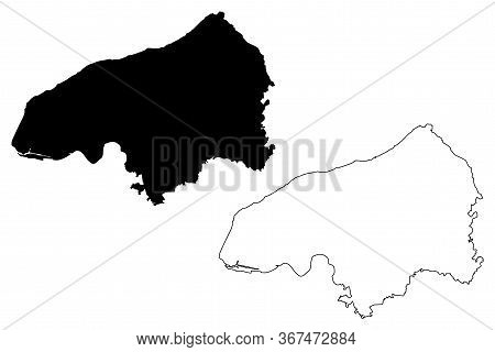 Seine-maritime Department (france, French Republic, Normandy Or Normandie Region) Map Vector Illustr