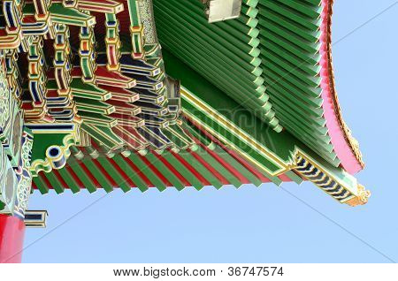 Chinese style roof